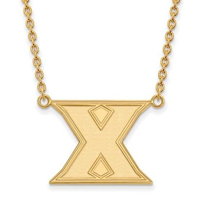 Picture of Xavier University Musketeers Sterling Silver Gold Plated Large Necklace