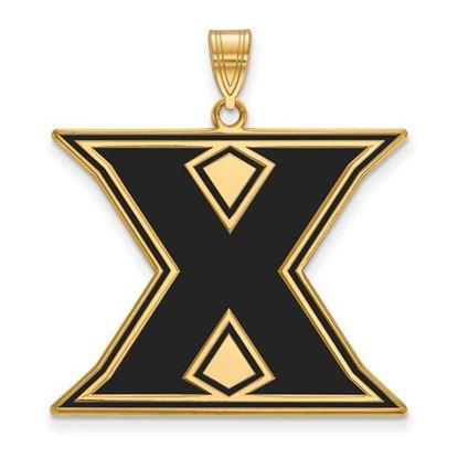 Picture of Xavier University Musketeers Sterling Silver Gold Plated Extra Large Enameled Pendant