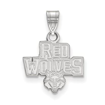 Picture of Arkansas State University Red Wolves Sterling Silver Small Pendant