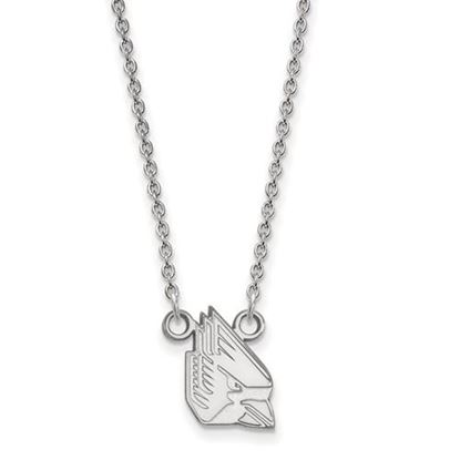 Picture of Ball State University Cardinals Sterling Silver Small Necklace