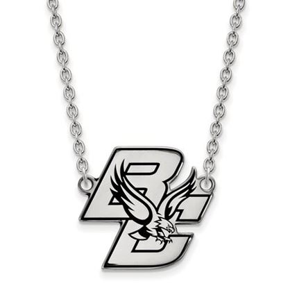 Picture of Boston College Eagles Sterling Silver Large Enameled Necklace