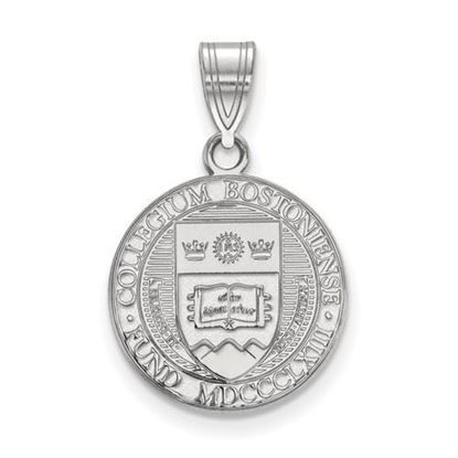 Picture of Boston College Eagles Sterling Silver Medium Crest Pendant