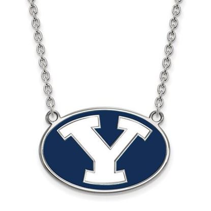 Picture of Brigham Young University Cougars 14k Sterling Silver Enameled Large Necklace
