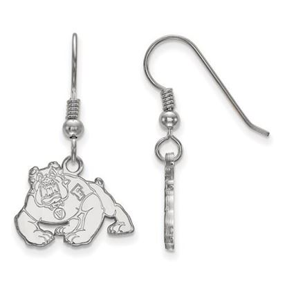Picture of California State University Fresno Bulldogs Sterling Silver Small Dangle Earrings