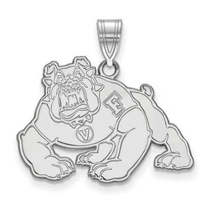 Picture of California State University Fresno Bulldogs Sterling Silver Large Pendant