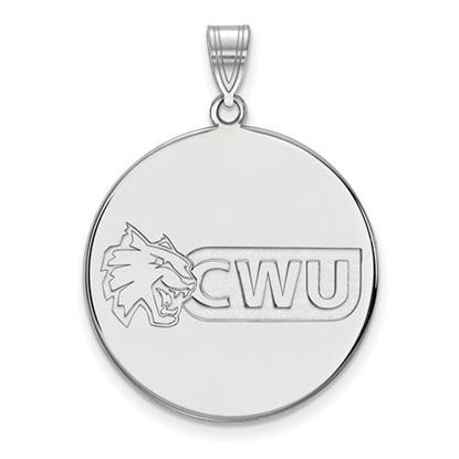 Picture of Central Washington University Wildcats Sterling Silver Extra Large Disc Pendant