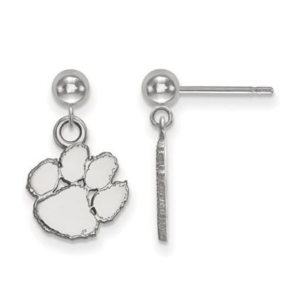 Picture of Clemson University Tigers Sterling Silver Dangle Earrings