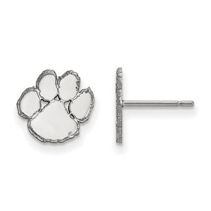 Picture of Clemson University Tigers Sterling Silver Extra Small Post Earrings