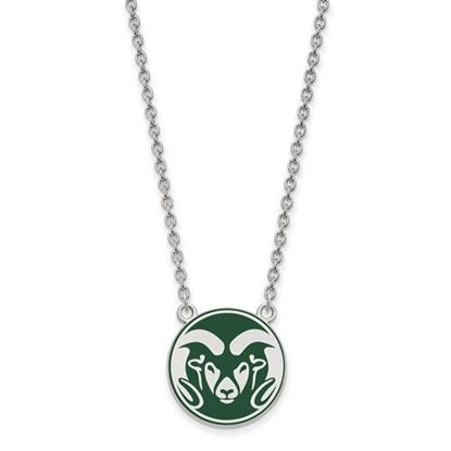 Picture of Colorado State University Rams Sterling Silver Enameled Large Necklace