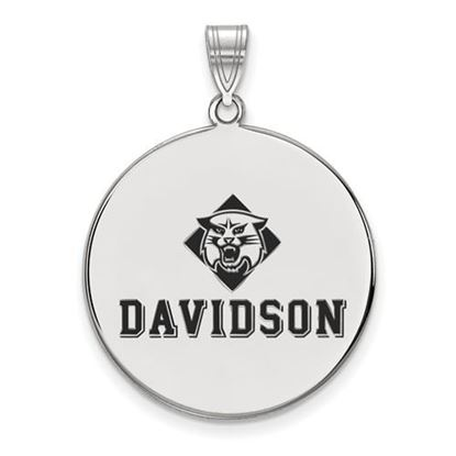 Picture of Davidson College Wildcats Sterling Silver Extra Large Enameled Disc Pendant