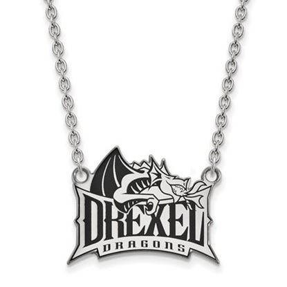 Picture of Drexel University Dragons Sterling Silver Enameled Large Necklace