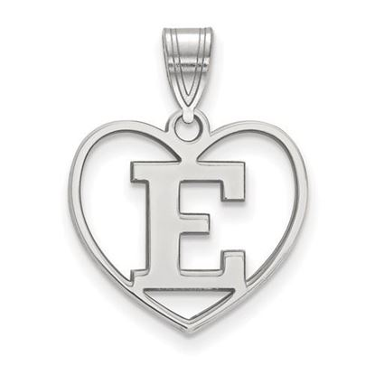 Picture of Eastern Michigan University Eagles Sterling Silver Heart Pendant