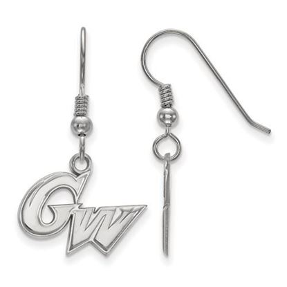Picture of The George Washington University Colonials Sterling Silver Small Dangle Earrings