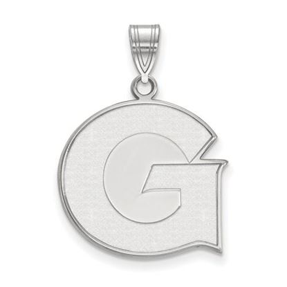 Picture of Georgetown University Hoyas Sterling Silver Large Pendant