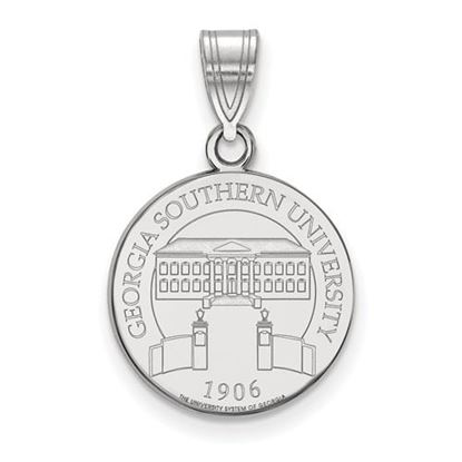 Picture of Georgia Southern University Eagles Sterling Silver Medium Crest Pendant