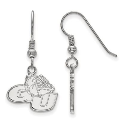Picture of Gonzaga University Bulldogs Sterling Silver Small Dangle Earrings