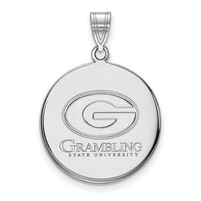 Picture of Grambling State University Tigers Sterling Silver Large Disc Pendant