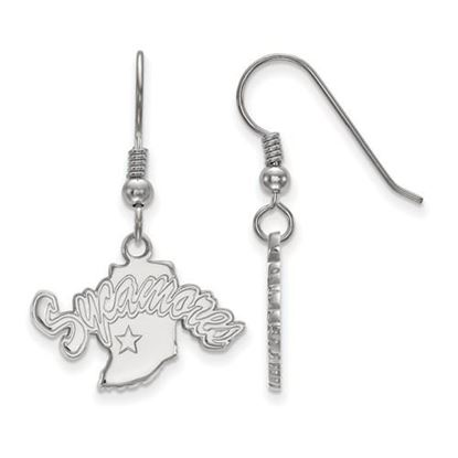 Picture of Indiana State University Sycamores Sterling Silver Small Dangle Earrings