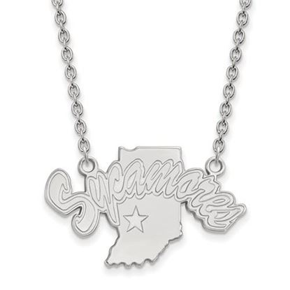 Picture of Indiana State University Sycamores Sterling Silver Large Necklace