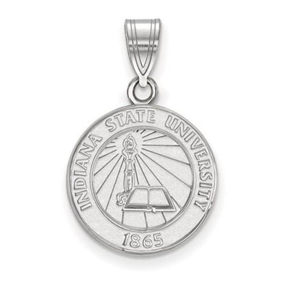 Picture of Indiana State University Sycamores Sterling Silver Medium Crest Pendant