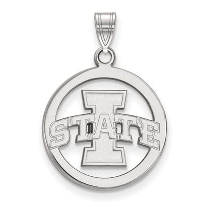 Picture of Iowa State University Cyclones Sterling Silver Small Circle Pendant