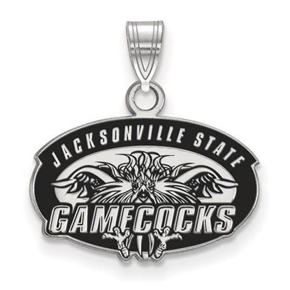 Picture of Jacksonville State University Gamecocks Sterling Silver Enameled Pendant