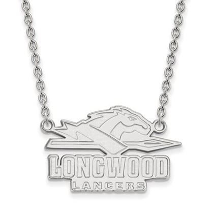 Picture of Longwood University Lancers Sterling Silver Large Enameled Necklace
