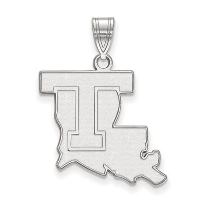Picture of Louisiana Tech University Bulldogs Sterling Silver Large Pendant