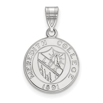 Picture of Meredith College Avenging Angels Sterling Silver Medium Crest Pendant