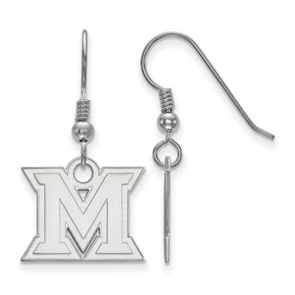Picture of Miami University Redhawks Sterling Silver Small Dangle Earrings