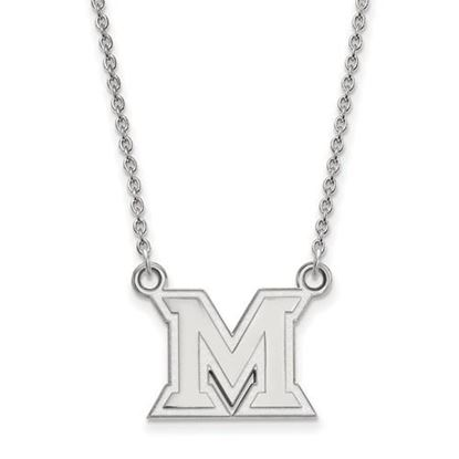 Picture of Miami University Redhawks Sterling Silver Small Necklace