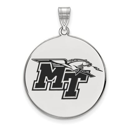 Picture of Middle Tennessee State University Blue Raiders Sterling Silver Extra Large Enameled Disc Pendant
