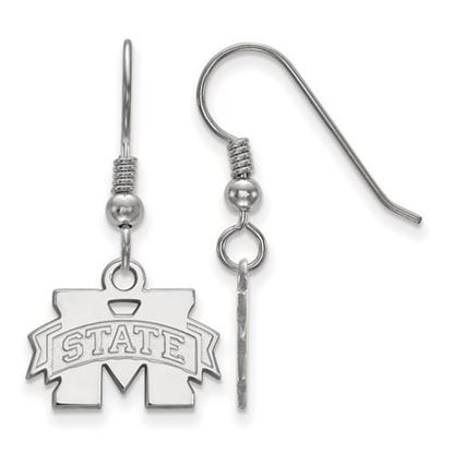 Picture of Mississippi State University Bulldogs Sterling Silver Extra Small Dangle Earrings