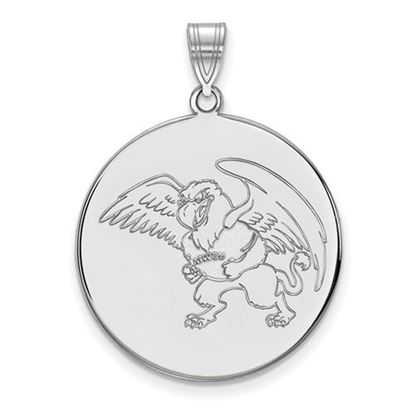 Picture of Missouri Western State University Griffons Sterling Silver Extra Large Disc Pendant