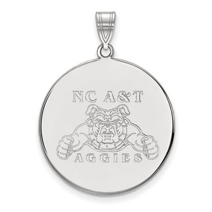 Picture of North Carolina A&T State University Aggies Sterling Silver Extra Large Disc Pendant