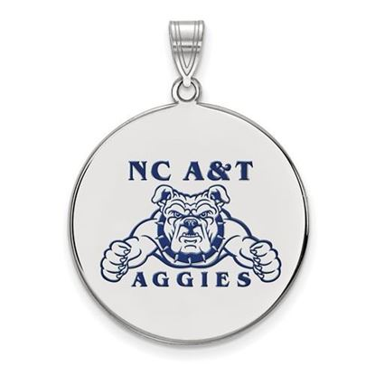 Picture of North Carolina A&T State University Aggies Sterling Silver Extra Large Enameled Disc Pendant
