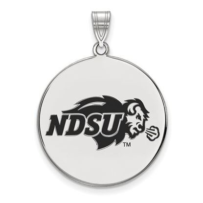 Picture of North Dakota State University Bison Sterling Silver Extra Large Enameled Disc Pendant