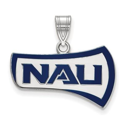 Picture of Northern Arizona University Lumberjacks Sterling Silver Large Enameled Pendant