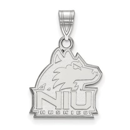 Picture of Northern Illinois University Huskies Sterling Silver Medium Pendant