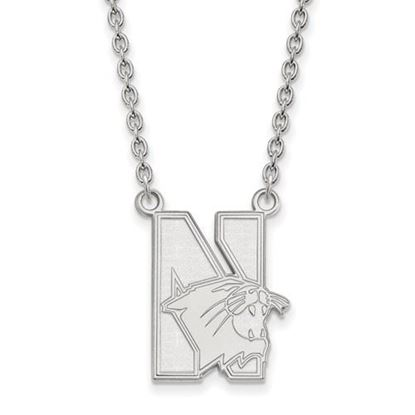 Picture of Northwestern University Wildcats Sterling Silver Large Necklace