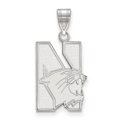 Picture of Northwestern University Wildcats Sterling Silver Large Pendant