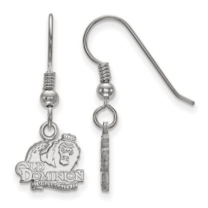 Picture of Old Dominion University Monarchs Sterling Silver Extra Small Dangle Earrings