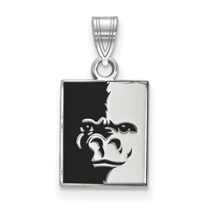 Picture of Pittsburgh State University Gorillas Sterling Silver Small Enameled Pendant