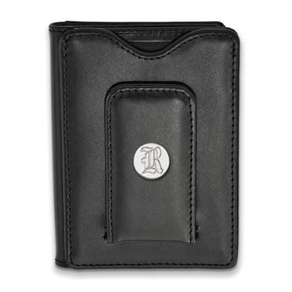 Picture of Rice University Owls Sterling Silver Black Leather Wallet