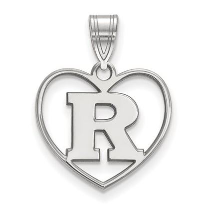 Picture of Rutgers University Scarlet Knights Sterling Silver Heart Pendant