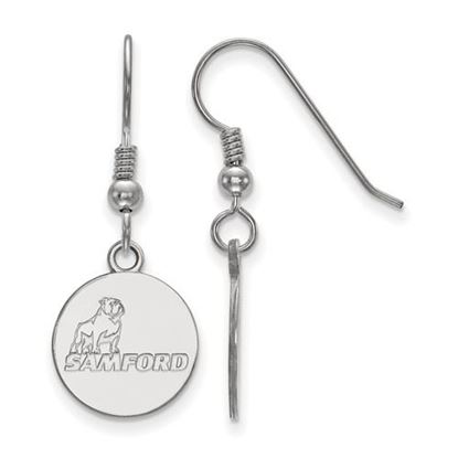 Picture of Samford University Bulldogs Sterling Silver Small Dangle Earrings