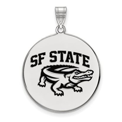 Picture of San Francisco State University Gators Sterling Silver Extra Large Enameled Disc Pendant