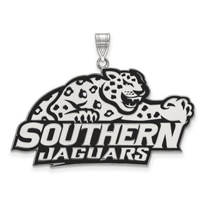 Picture of Southern University Jaguars Sterling Silver Extra Large Enameled Pendant