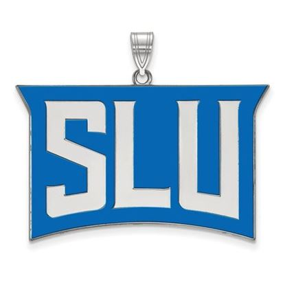 Picture of St. Louis University Billikens Sterling Silver Extra Large Enameled Pendant