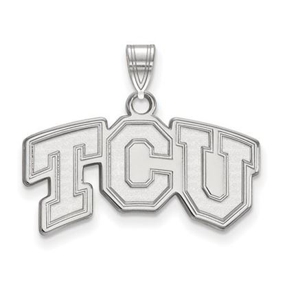 Picture of Texas Christian University Horned Frogs Sterling Silver Small Pendant